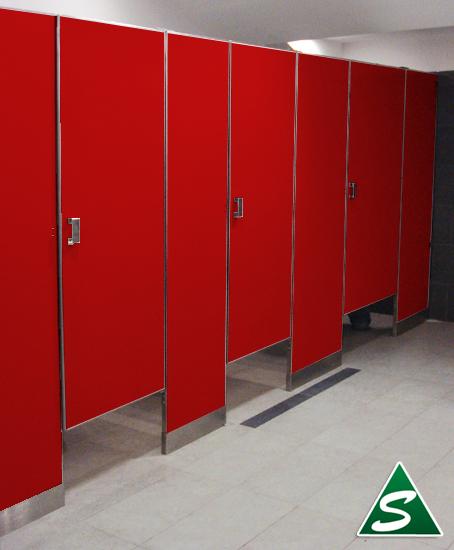 Baño De Color Rojo Fuego:mamparas para sanitarios públicos Sanimodul,mamparas para baños